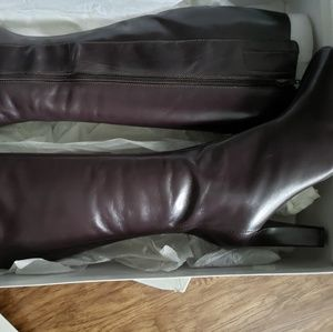 Nine West Chocolate Brown Leather Boots